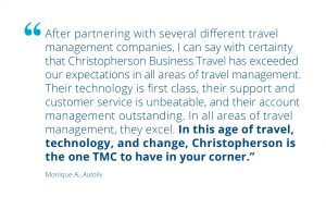 Autoliv Testimonial for Corporate Travel Management