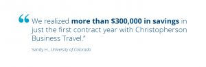 Cost Savings from Corporate Travel Management Colorado