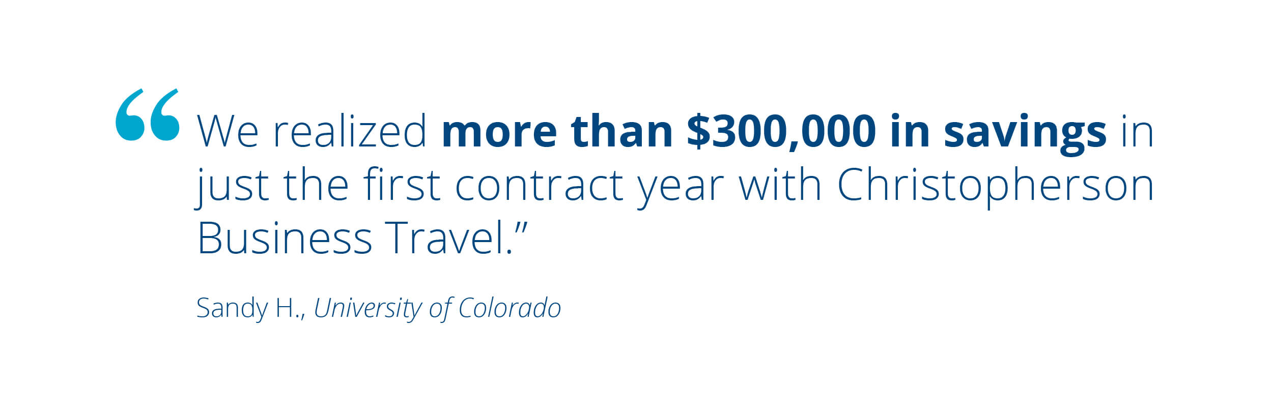 Cost Savings from University Corporate Travel Colorado