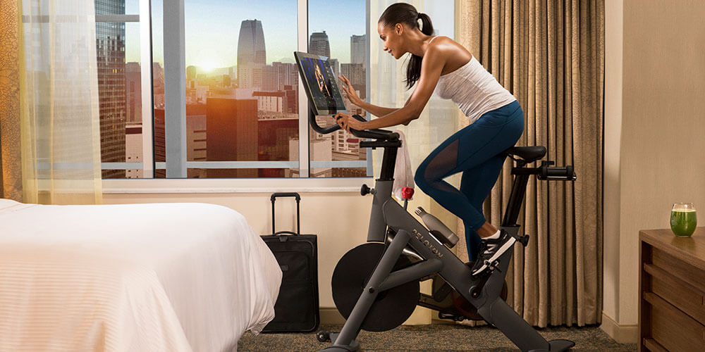 Peloton Bikes Available In Room At Westin Hotels