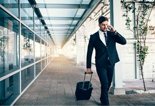 Corporate Traveler Uses TMC for Business Travel Booking