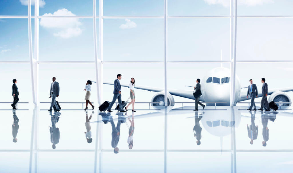 Airport business travel made easier with corporate travel technology